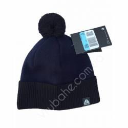 Шапка подростковая на флисе-темно-синий -27875