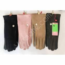 Перчатки женские трикотаж на флисе оптом-47642