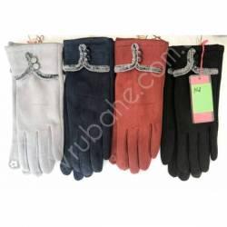 Перчатки женские трикотаж на флисе оптом-47643