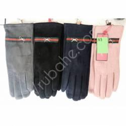 Перчатки женские трикотаж на флисе оптом-47644