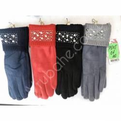 Перчатки женские трикотаж на флисе оптом-47652