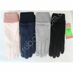 Перчатки женские трикотаж на флисе оптом-47653