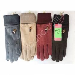 Перчатки женские трикотаж на флисе оптом-47654