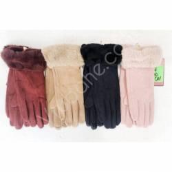 Перчатки женские трикотаж на флисе оптом-47657