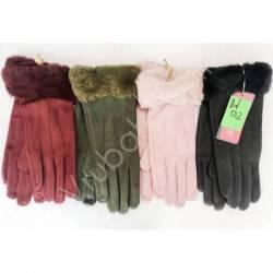 Перчатки женские трикотаж на флисе оптом-47658