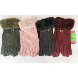 Перчатки женские трикотаж на флисе оптом-47659