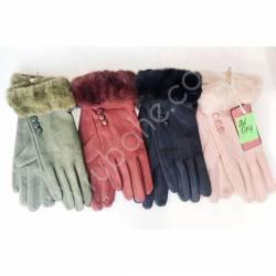Перчатки женские трикотаж на флисе оптом-47660