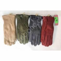 Перчатки женские трикотаж на меху оптом-47661