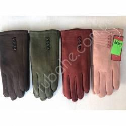 Перчатки женские трикотаж на меху оптом-47663
