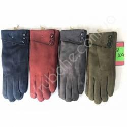 Перчатки женские трикотаж на меху оптом-47664