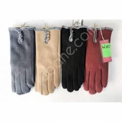 Перчатки женские трикотаж на меху оптом-47665