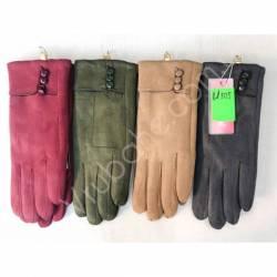 Перчатки женские трикотаж на меху оптом-47666
