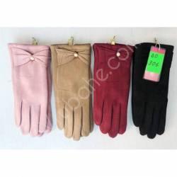 Перчатки женские трикотаж на меху оптом-47667