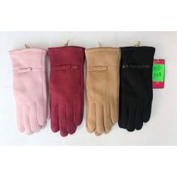 Перчатки женские трикотаж на меху оптом-47669