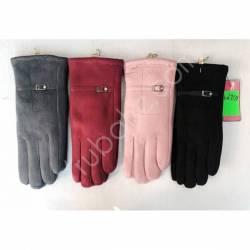 Перчатки женские трикотаж на меху оптом-47670
