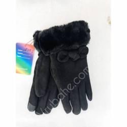 Перчатки женские трикотаж на меху оптом-47671