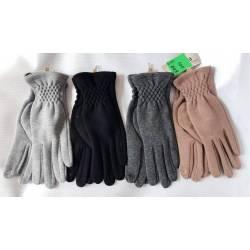Перчатки женские трикотаж на флисе оптом-47673