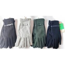 Перчатки женские трикотаж на флисе оптом-47675