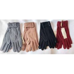 Перчатки женские трикотаж на флисе оптом-47676