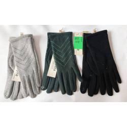 Перчатки женские трикотаж на флисе оптом-47677
