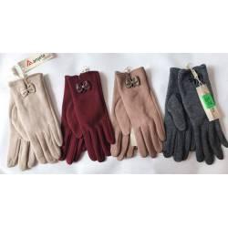 Перчатки женские трикотаж на флисе оптом-47678