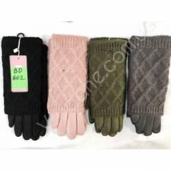 Перчатки женские трикотаж на флисе оптом-47679