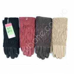 Перчатки женские трикотаж на флисе оптом-47680