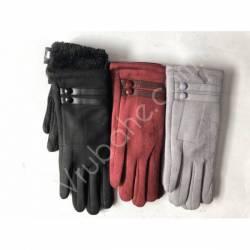 Перчатки женские замш на флисе оптом-47748