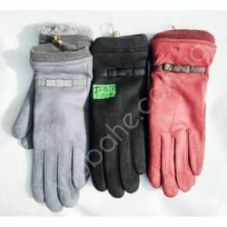 Перчатки женские замш на флисе оптом-47751