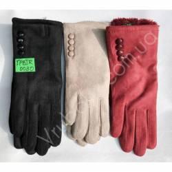 Перчатки женские замш на флисе оптом-47755