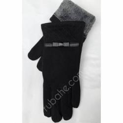 Перчатки женские трикотаж на меху оптом-47761