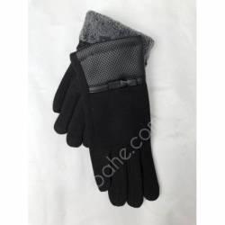 Перчатки женские трикотаж на меху оптом-47762