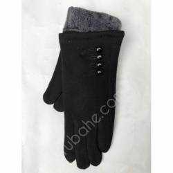 Перчатки женские трикотаж на меху оптом-47763