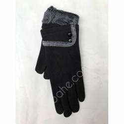 Перчатки женские трикотаж на меху оптом-47764