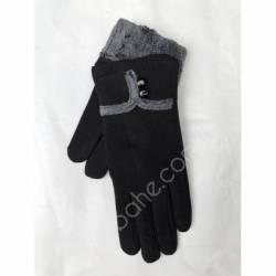 Перчатки женские трикотаж на меху оптом-47766