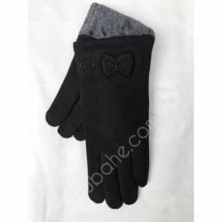 Перчатки женские трикотаж на меху оптом-47767