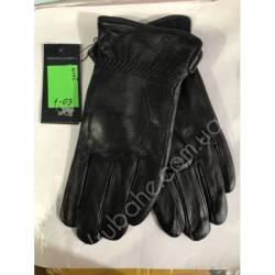 Перчатки мужские кожа в нутри махра оптом-47788