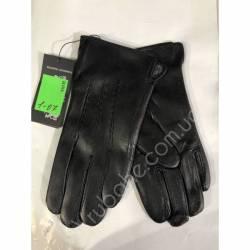 Перчатки мужские кожа в нутри махра оптом-47789