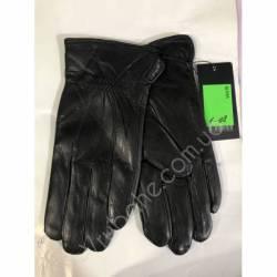 Перчатки мужские кожа в нутри махра оптом-47790