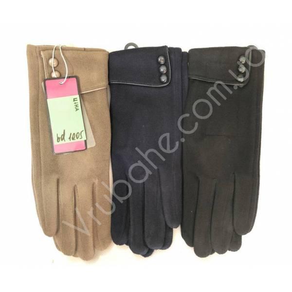 Перчатки женские трикотаж оптом-47818