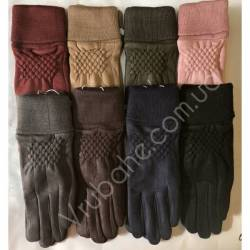 Перчатки женские замша оптом-47836