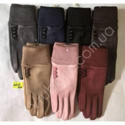 Перчатки женские замша оптом-47837