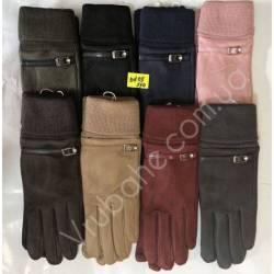 Перчатки женские замша оптом-47839