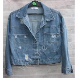 Куртка женская джинсовая (M-L) оптом -50834