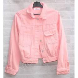 Куртка женская джинсовая (M-L) оптом -50835