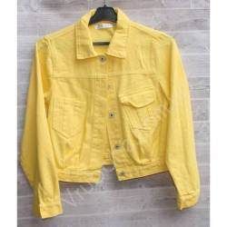 Куртка женская джинсовая (M-L) оптом -50837