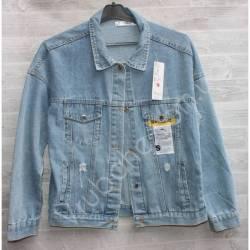 Куртка женская джинсовая (M-L) оптом -50838