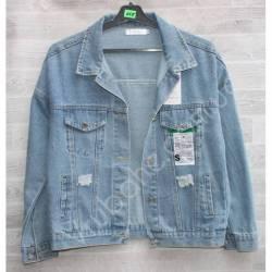 Куртка женская джинсовая (M-L) оптом -50839