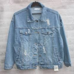 Куртка женская джинсовая (M-L) оптом -50842