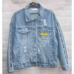 Куртка женская джинсовая (M-L) оптом -50843